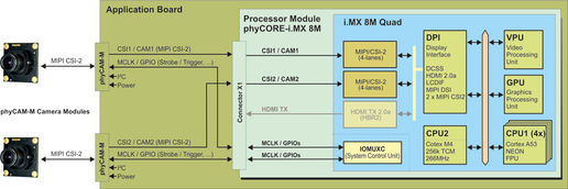 Video-Interfaces phyCORE-i.MX 8M